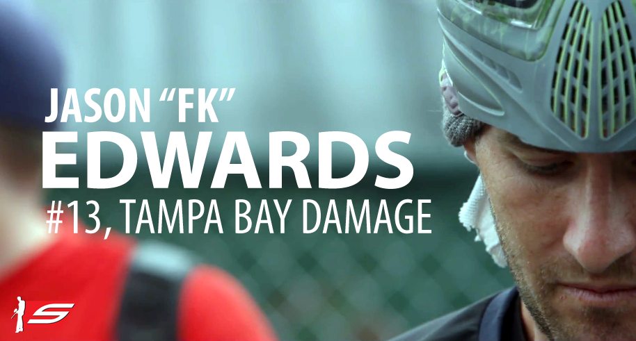 "Jason ""FK"" Edwards, #13, Tampa Bay Damage, Pro Paintball Player"
