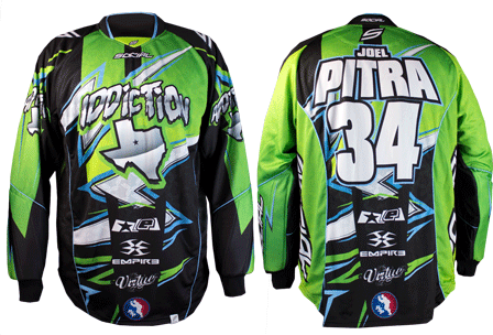 addiction custom paintball jersey gallery