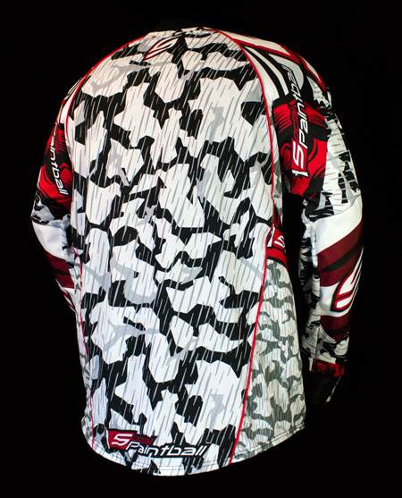 Grit Custom Paintball Jersey Light Back Mesh
