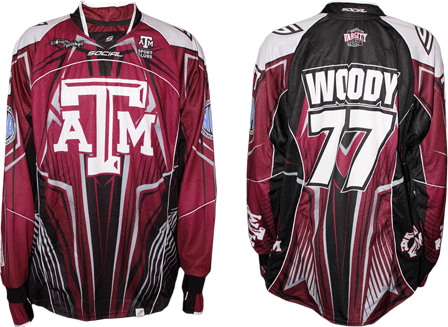 texas am varsity custom paintball jersey gallery